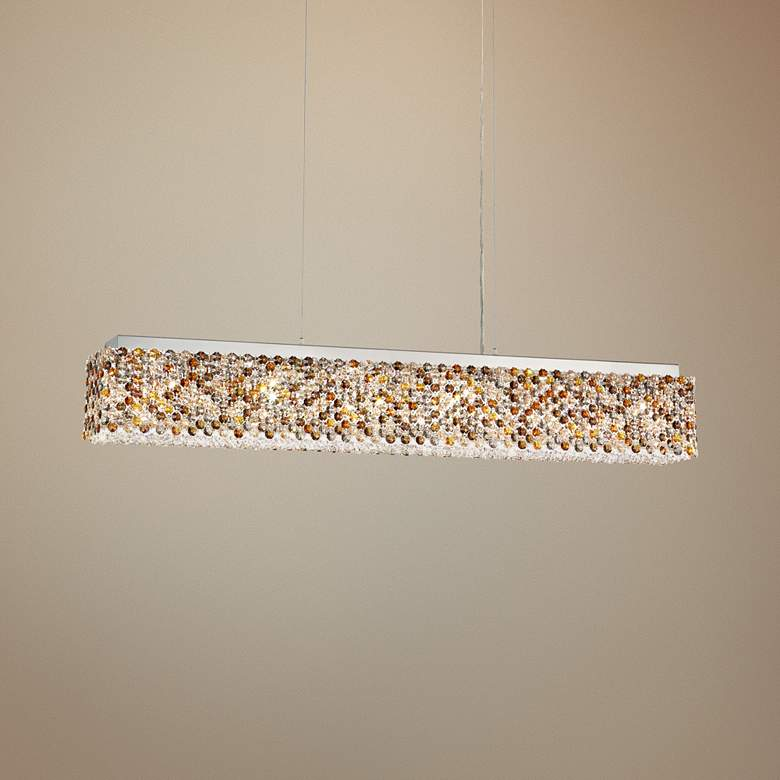 "Refrax 36 1/2"" Wide Crystal LED Kitchen Island Light Pendant"