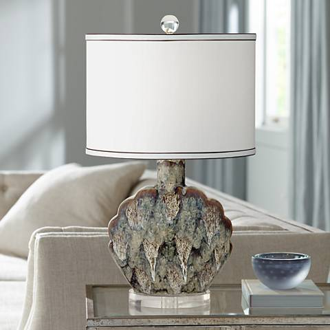 Possini Euro Ryan Seashell Ceramic Table Lamp
