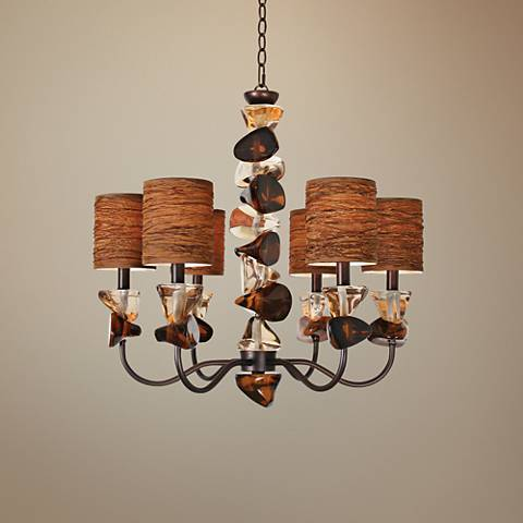 "Night Life 27"" Wide Copper 5-Light Rock and Roll Chandelier"