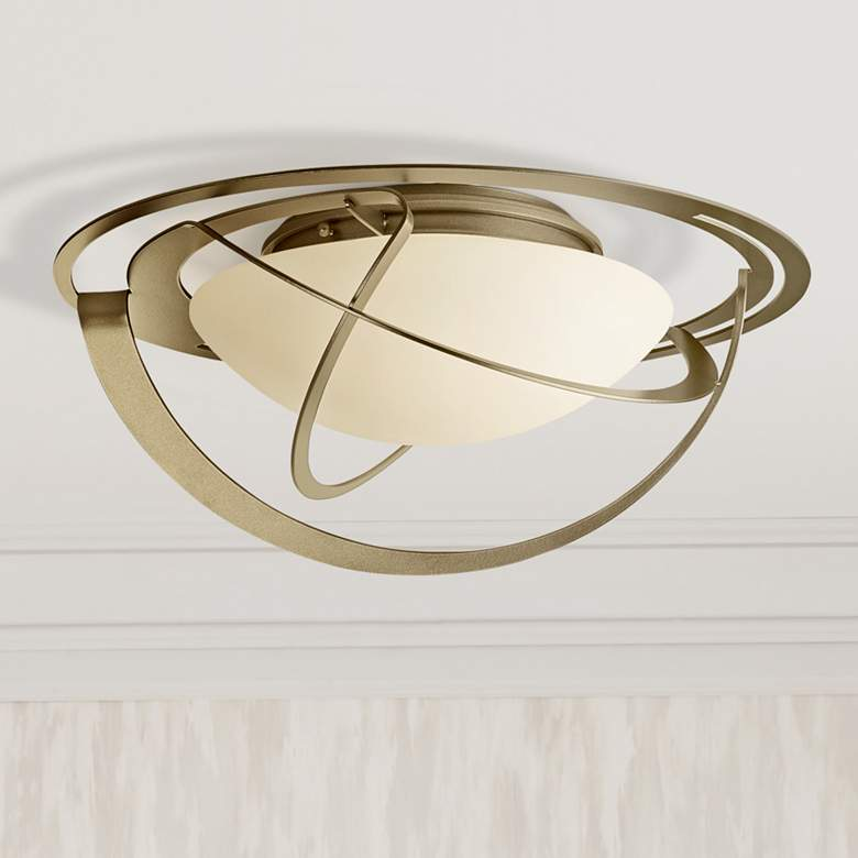 "Hubbardton Forge Equinox 21"" Wide Soft Gold Ceiling"