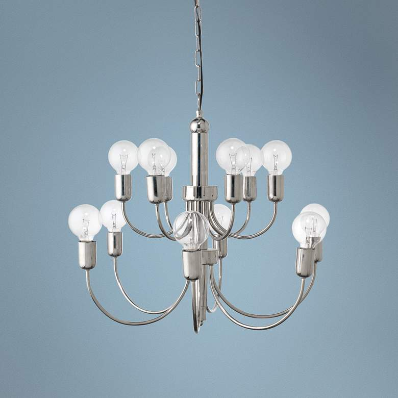 "Jamie Young Savoy 25"" Wide Silver 12-Light Chandelier"