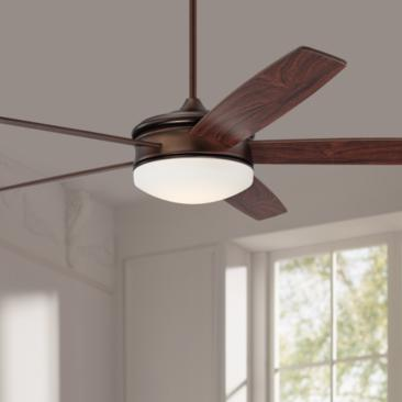 "70"" Coastline Oil Brushed Bronze LED Ceiling Fan"