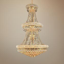 "Primo 30"" Wide Gold 32-Light Crystal Chandelier"