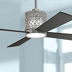 "52"" Craftmade Marissa Polished Nickel LED Ceiling Fan"