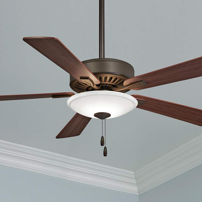 "52"" Contractor Uni-Pack Oil-Rubbed Bronze LED Ceiling Fan"