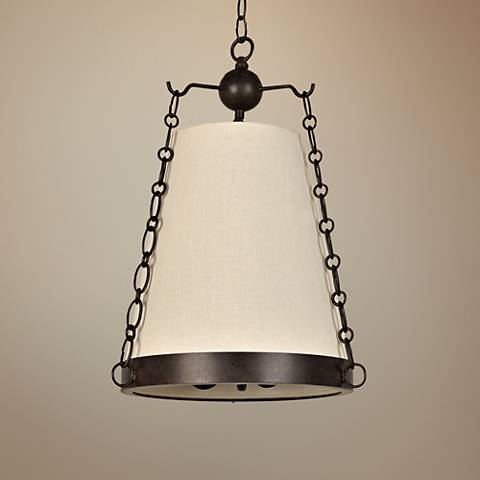 "Crystorama Ellis 14"" Wide Charcoal Bronze Pendant Light"