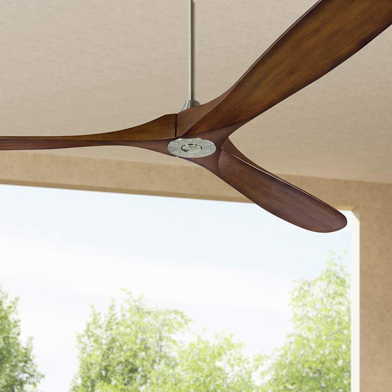 "88"" Monte Carlo Maverick Super Max Steel Koa Ceiling Fan"
