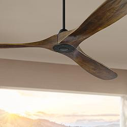 "70"" Monte Carlo Maverick Max Matte Black Ceiling Fan"