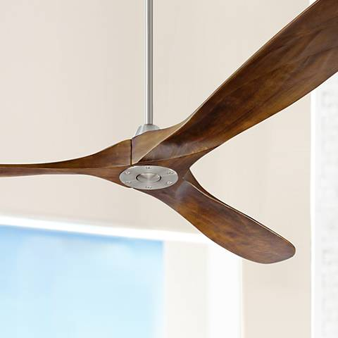 "70"" Monte Carlo Maverick Max Brushed Steel Ceiling Fan"