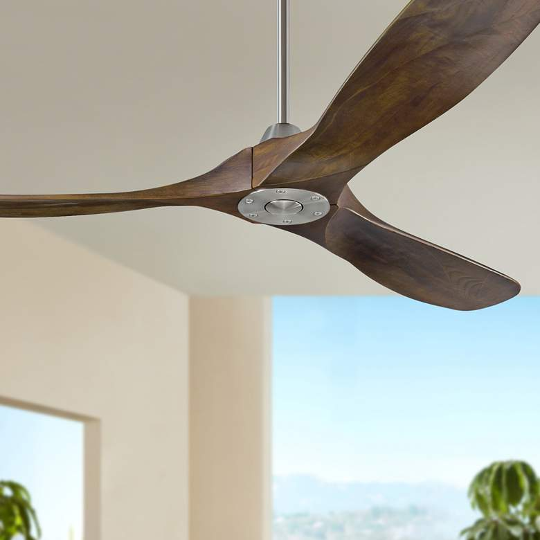 "60"" Monte Carlo Maverick Brushed Steel Ceiling Fan"