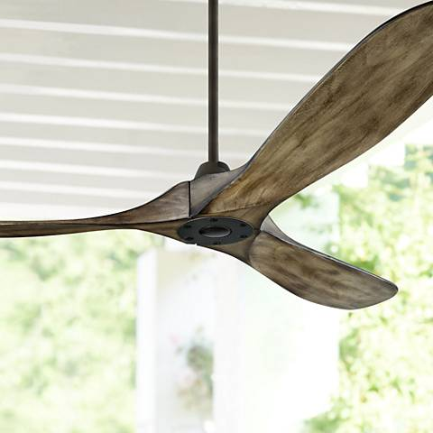"60"" Monte Carlo Maverick Aged Pewter Ceiling Fan"