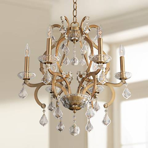 "Allegri Duchess 22"" Wide Champagne Gold 6-Light Chandelier"