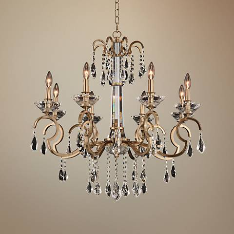 "Allegri Valencia 32"" Wide Champagne Gold 8-Light Chandelier"