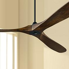 Black ceiling fan designs with lights or without lamps plus 88 monte carlo maverick super max matte black ceiling fan aloadofball Image collections