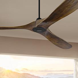 Black Contemporary Ceiling Fan Without Light Kit Ceiling Fans
