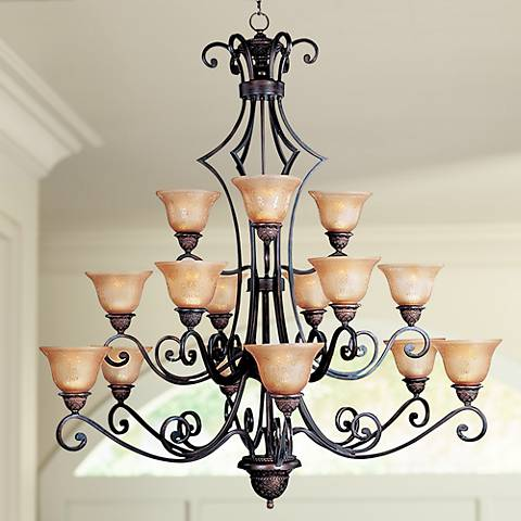 "Symphony Collection 51"" High 15 Light Large Chandelier"