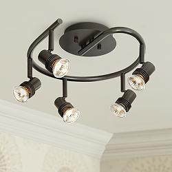 Pro Track® Spiral Bronze 5-Light Ceiling Fixture