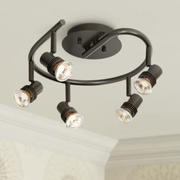 Pro Track® Spiral Bronze 5-Light LED Ceiling Fixture