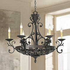 Kathy Ireland 32 1 2 Wide La Romantica Chandelier