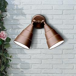 Bronze Finish Two Light Outdoor Security Floodlight