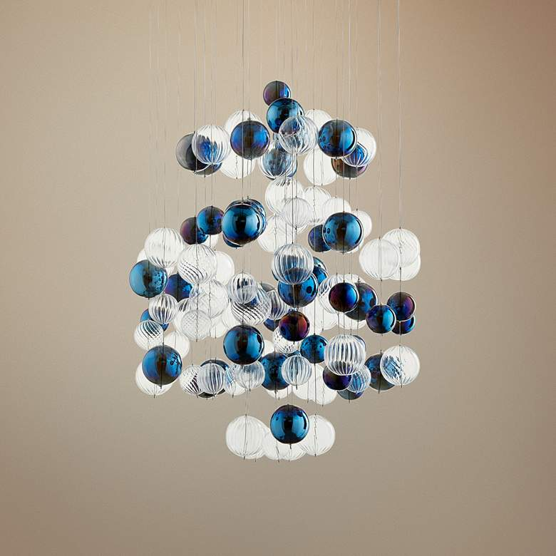 "Cyan Design Champagne Circus 24"" Wide Chrome Pendant"