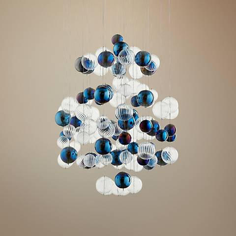 "Cyan Design Champagne Circus 24"" Wide Chrome Pendant Light"