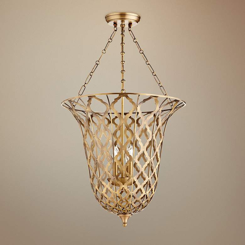 "Cyan Design Guinevere 20 1/4""W Aged Brass 4-Light"