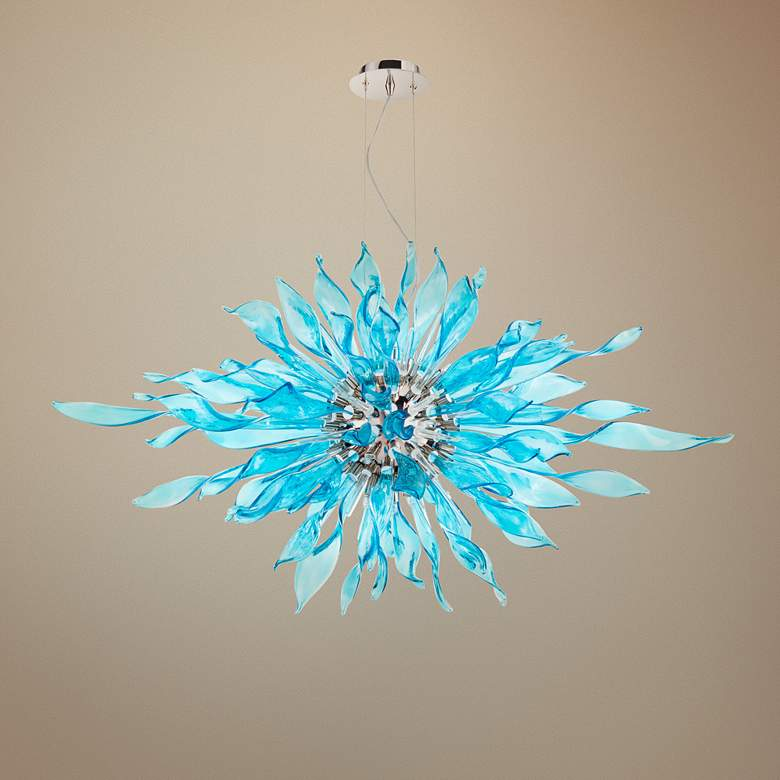 "Cyan Design Jarvis 48"" Wide Polished Nickel Pendant"
