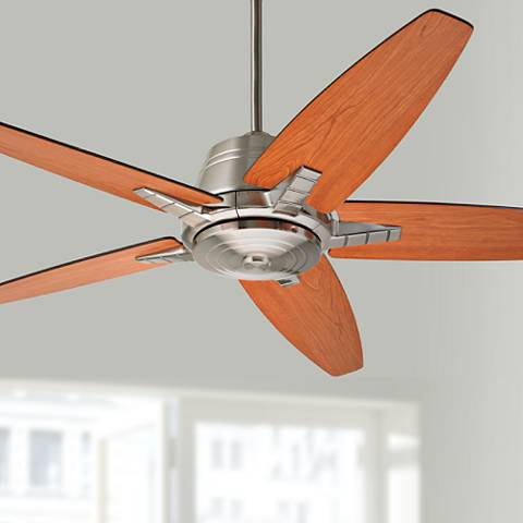 "56"" Emerson Euclid Brushed Steel Ceiling Fan"