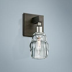 "Citizen 9"" High Graphite and Polished Nickel Wall Sconce"