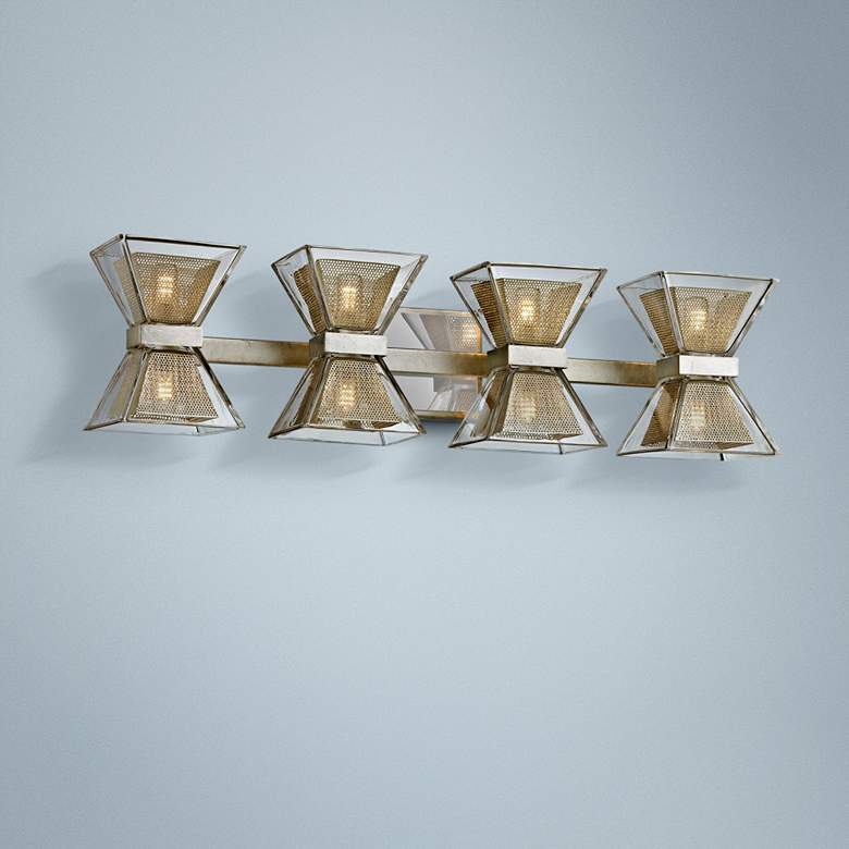 "Expression 27 1/2"" Wide Silver Leaf 8-Light LED"