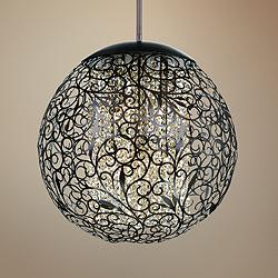 "Maxim Arabesque 23"" Wide Oil Rubbed Bronze Pendant Light"