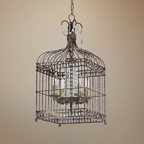 "Maxim Gisele 12 1/2"" Wide Antique Terra 4-Light Pendant"