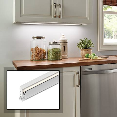 "Kichler 6U 12"" Wide Textured White LED Under Cabinet Light"
