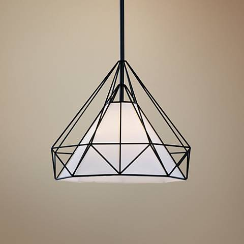 "Maxim Teepee 19 3/4"" Wide Black Pendant Light"