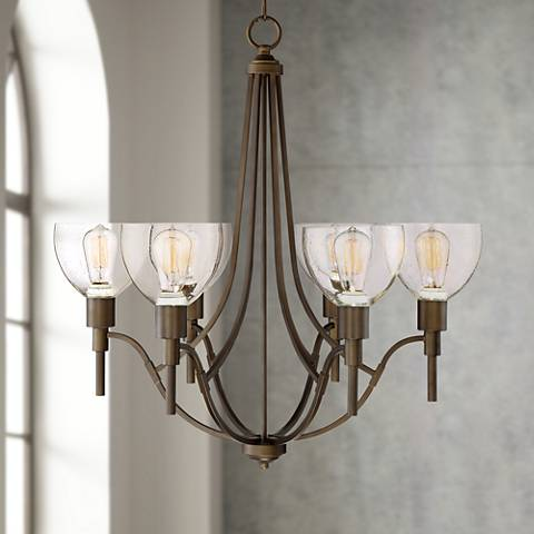 "Clara 27 1/2"" Wide Oil Rubbed Bronze 6-Light Chandelier"