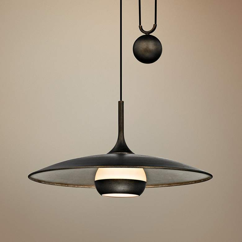 "Alchemy 24"" Wide Bronze and Silver Leaf LED"