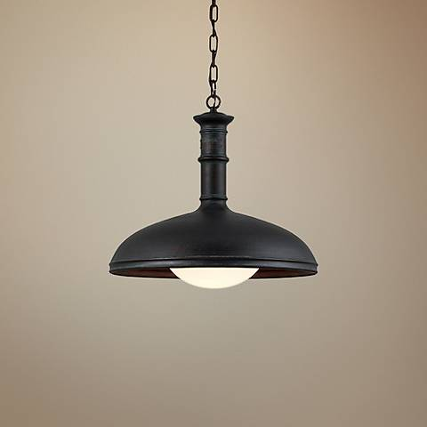 "Brewery 20"" Wide Vintage Patina Bronze Pendant Light"