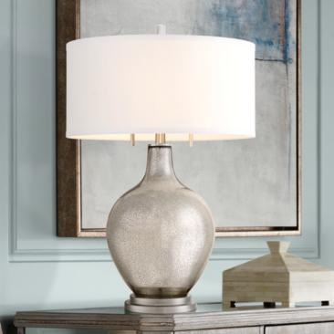 Possini Euro Louie Mercury Glass Table Lamp