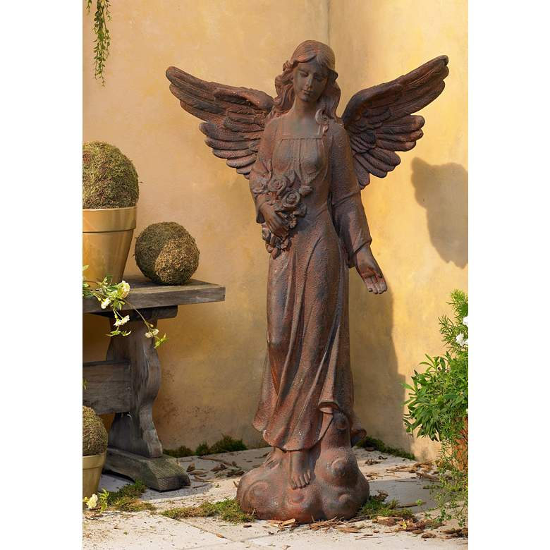 "English Tudor Garden Angel 41 1/2"" High Statue"