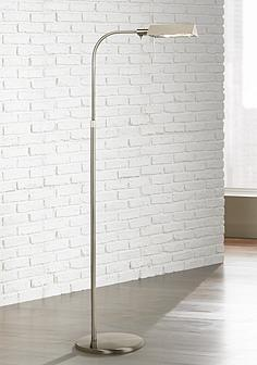 Silver sonneman floor lamps lamps plus sonneman satin nickel tenda pharmacy adjustable floor lamp aloadofball Images