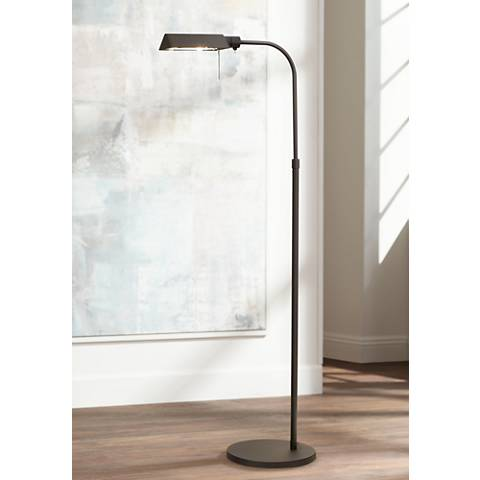 Sonneman Black Tenda Pharmacy Adjustable Floor Lamp
