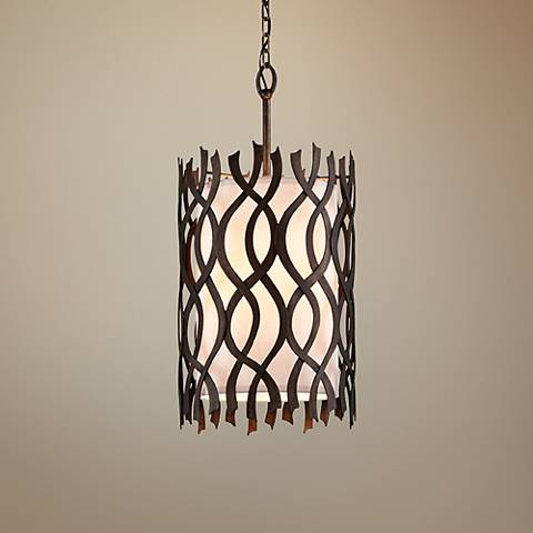 "Mai Tai 13 3/4"" Wide Cottage Bronze Pendant Light"