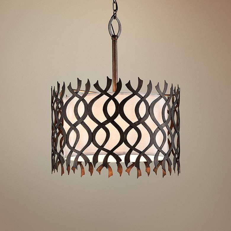 "Mai Tai 24 1/2"" Wide Cottage Bronze Pendant Light"