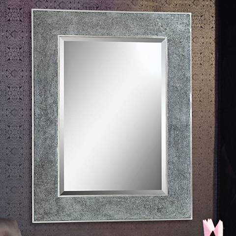 "Helena Silver 30"" x 40"" Rectangular Wall Mirror"