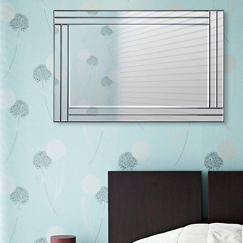 "Baton Rouge Glass 24"" x 35"" Rectangular Wall Mirror"