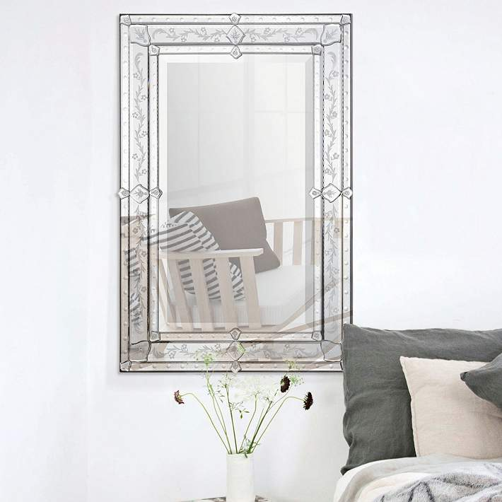Vincenzo Glass 24 X 36 Rectangular Wall Mirror 24c47 Lamps Plus
