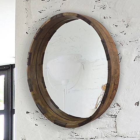 "Industria Mango 30"" Round Wall Mirror"