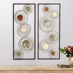 Kronos 2-Piece Circle Wall Art