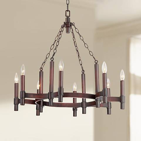 "Ranchero 27 1/2"" Wide Dark Brown 8-Light Chandelier"